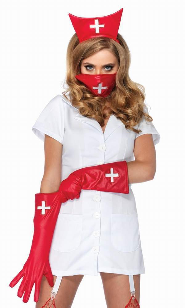 Поздравление в костюме медсестры 37